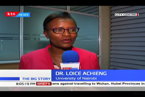 Dr Loice talks to KTN about Corona virus outbreak